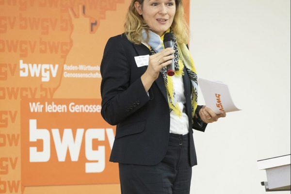 Frau Roth vom baden-württembergischen Genosschenschaftsverband